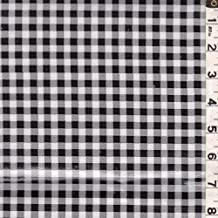 Black/White Check Oilcloth, Fabric By the Yard