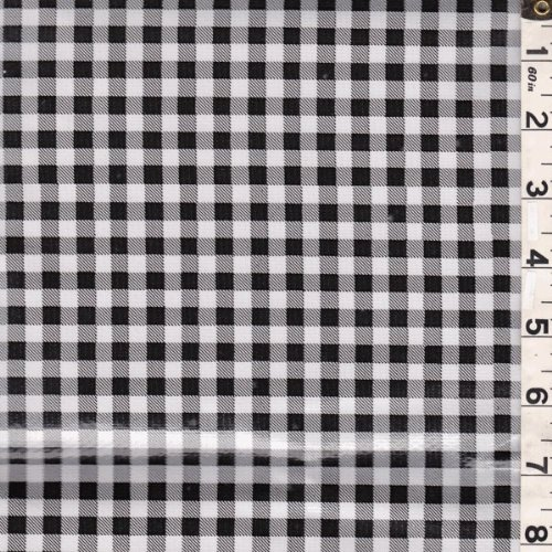 Gingham Check Oilcloth, Fabric by The Yard (Black) ()