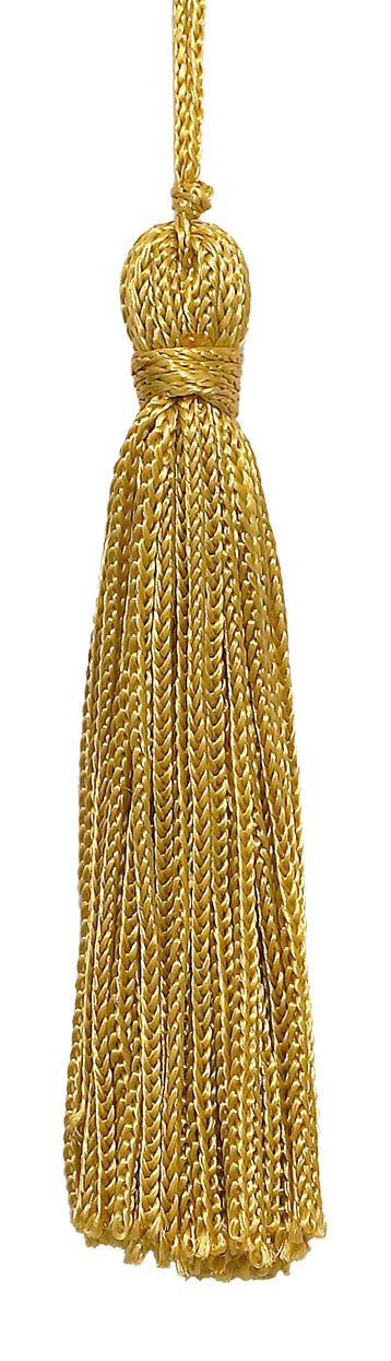 D/ÉCOPRO Set of 10 Gold Chainette Tassel C4 3 Inch Long with 1 Inch Loop Basic Trim Collection Style# RT03 Color:Gold