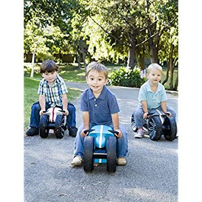 Prince Lionheart yoMOTO Ride-On Toy for Toddlers, Grey/Green : Baby