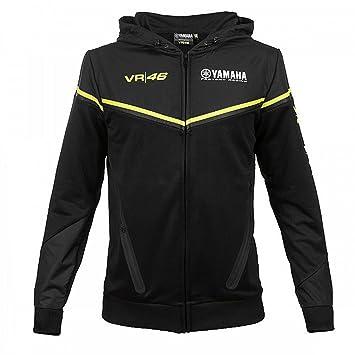 Valentino VR46 Rossi Yamaha MotoGP - Sudadera con Capucha para Hombre, con Cremallera, Color Negro: Amazon.es: Deportes y aire libre