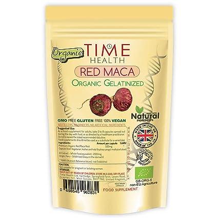 Raíz de Maca Roja 2 000 mg cápsulas gelatina Certificado Orgánico camisetas bandejas los Andes péruviennes