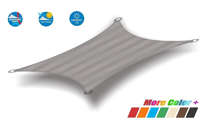 Tama/ño Personalizado CAIJUN Velas De Sombra Marr/ón Al Aire Libre P/érgola Protector Solar Planta Anti-UV Toldo De Coche Respirable Size : 2x3m