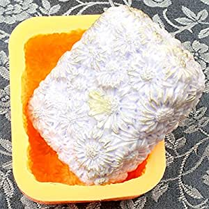 Chawoorim Silicone Handmade Daisy Molds - Lotion Bar Bath Bomb Soap Making DIY Craft