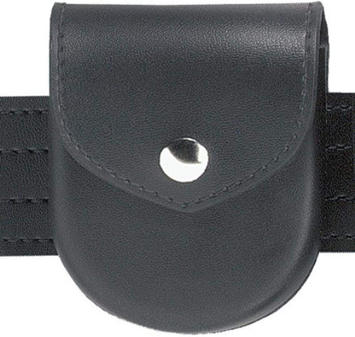 Safariland Duty Gear Chrome Snap Flap Top Handcuff Case (Plain Black)