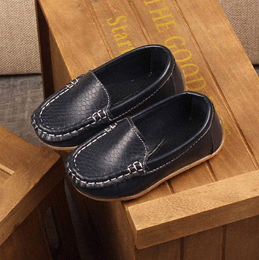 ZODOF Niños Niños Niños Niñas Zapatillas de Deporte de Cuero sólido Zapatillas de Deporte perezosas: Amazon.es: Ropa y accesorios