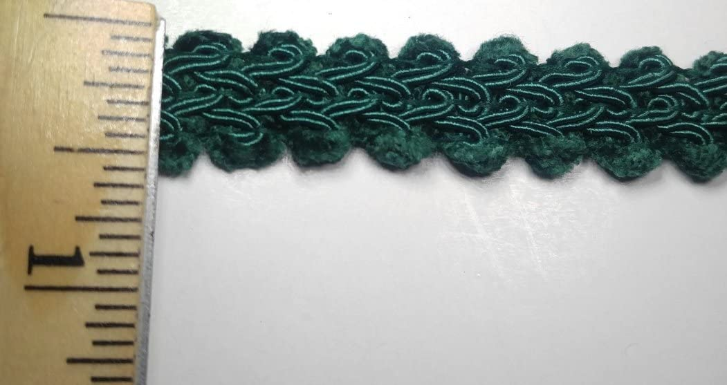 18 Continuous Yards Navy 1//2 CHENILLE GIMP BRAID Many Colors Available