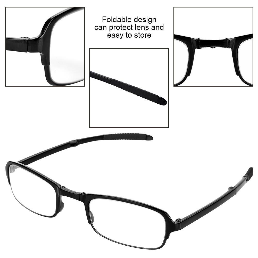 2.0 Pieghevole Lettura Occhiali Occhiali Visione Chiara Anti-Fatica Portable Moda Occhiali da Lettura Pieghevoli di Rotazione degli Occhiali con Il Caso di Trasporto