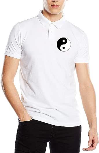 Camiseta de Polo de Manga Corta para Hombre Tai Chi Yin Yang Fit: Amazon.es: Ropa y accesorios