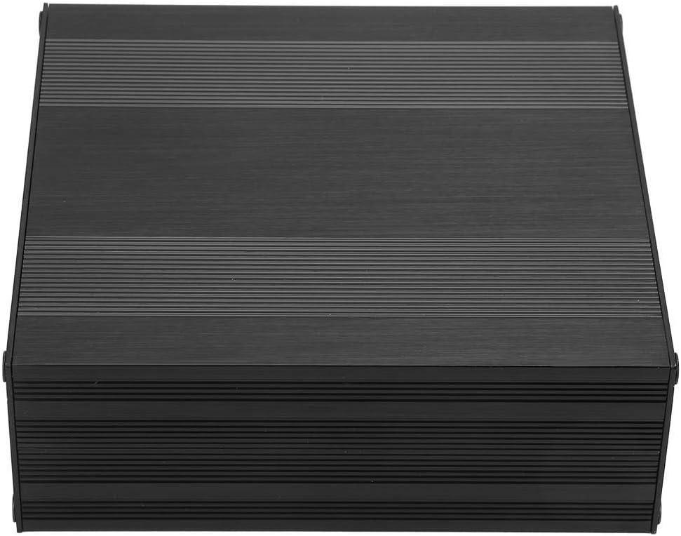 Boitier Aluminium Boitier Aluminium BiuZi 1Pc Noir En Alliage Daluminium De Tr/éfilage Printed Circuit Board Bo/îte Split Type DIY Bo/îtier /Électronique Projet De Cas 54 145 150mm