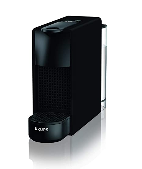 Krups Nespresso xn110 N xn100 N Essenza Mini cafetera de cápsulas, 1260, Negro Mate