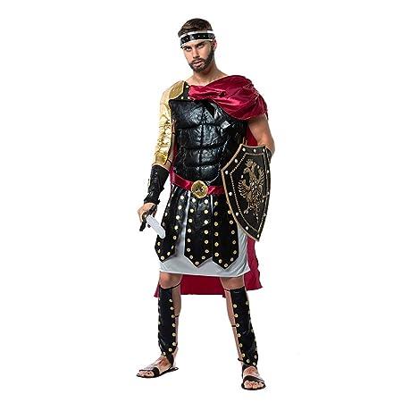 EraSpooky Disfraz de Gladiador Romano Disfraces Capa Fiesta ...