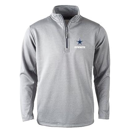 reputable site fb9be 868df Dunbrooke Apparel NFL Dallas Cowboys Unisex All Starall Star Tech Fleece  1/4 Zip, Heather Grey, X-Large