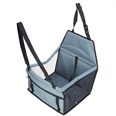 7f4aaf1eb1440 Buy Freedom-vp Portable Foldable Pet Car Carrier Basket Dog Cat Mesh Side  Booster Seat with Safety Leash Vacation Travelling Bag (With Mesh, Grey)  Online at ...