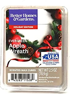 Better Homes & Gardens Scented Wax Cubes, 2019 Limited Edition (Evergreen Apple Wreath)