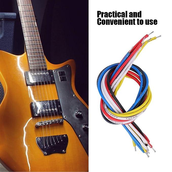 Dilwe 10 Pcs Cable de Guitarra Eléctrica, 9 cm /19 cm Cable de Guitarra para Eléctrico Bajo Guitarra(19cm / 7.5in): Amazon.es: Deportes y aire libre