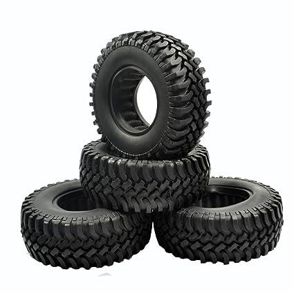 "1-4x 100MM OD Tire Tyre w// Foam for RC 1//10 1.9/"" Wheel Rims Axial SCX10 Crawler"