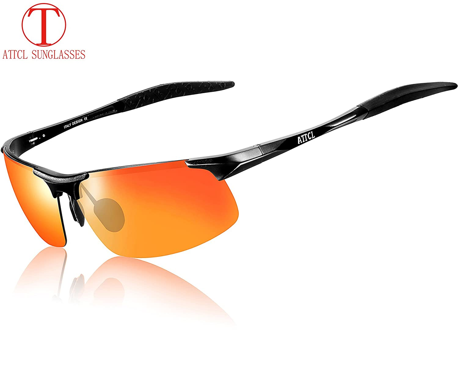 93d95dcb25 ATTCL® 2016 New Fashion Driving Polarized Sunglasses for Men Unbreakable-metal  Frame (BLACK