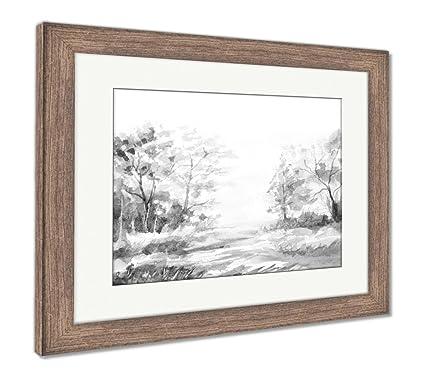 Amazon.com: Ashley Framed Prints Reproduction of Natural Landscape ...