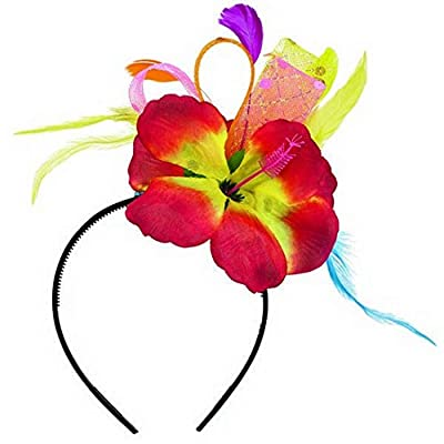 "Amscan Hibiscus Party Fashionista Headband, 11"" x 8.5"": Kitchen & Dining"