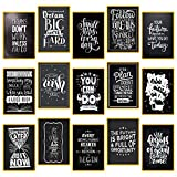 "bedroom office ideas 15 Set Motivational Posters for Classroom Decorations Chalkboard - Home, Room, Office Inspirational Quotes Wall Decor Black White Pictures 13"" x 19"" - Inspiring Students, Women, Men, Teachers Gifts"
