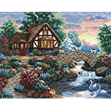 Dimensions Needlecrafts Counted Cross Stitch, Twilight Bridge