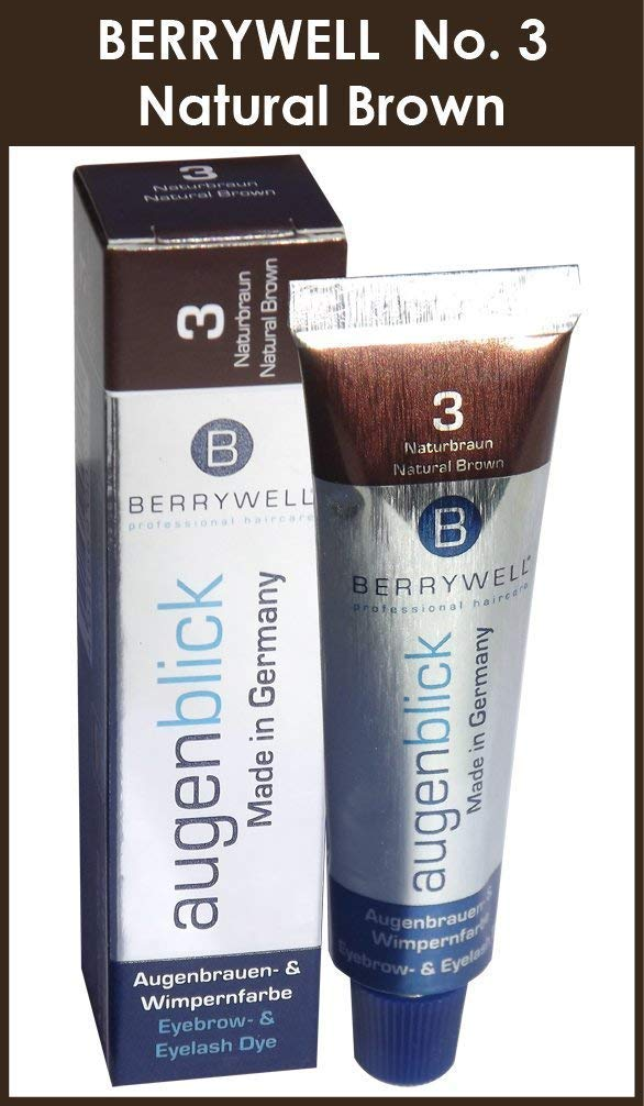 Berrywell augenblick natural brown (no. 3.0) tint hair dye from germany, 25g