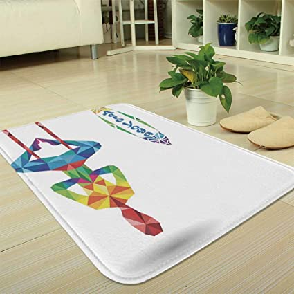 Amazon.com : YOLIYANA Short Fur Floor Mat, Yoga, for Home ...