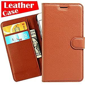 HTC Desire 530 Case, [eBuyLife] Phone Case HTC Desire 530, [Brown] Pop Cheap Cell caso móvel mobile Flip Leather Protector Wallet Slim Folio Cover Credit Card Slots Belt Clip Stand Holder Magnetic