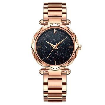 Hswt Reloj de Las señoras Impermeable Movimiento del Cuarzo Pulsera de Acero Ultra-Delgada Reloj