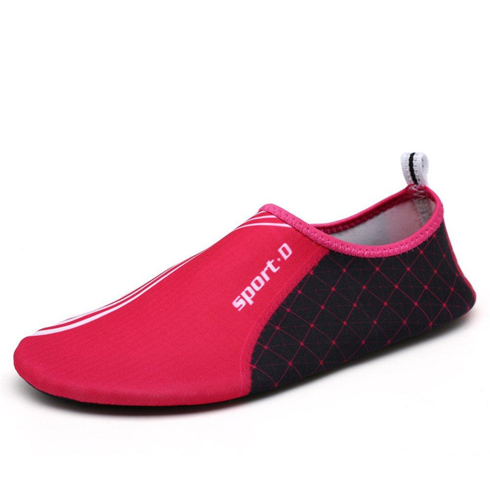 Humasol Men Women's Lightweight Quick-Dry Aqua Shoes Multifunctional Water Socks for Swim Beach Pool B073WTGXMY US Women:12-13.5/ Men:10.5-12 (EU 43-44) SPD-Rose red