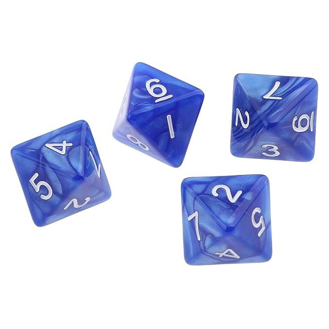 Dungeons /& Drachen 10 Polyedrische Dice D10 Acryl Zubehör für Partyspiele