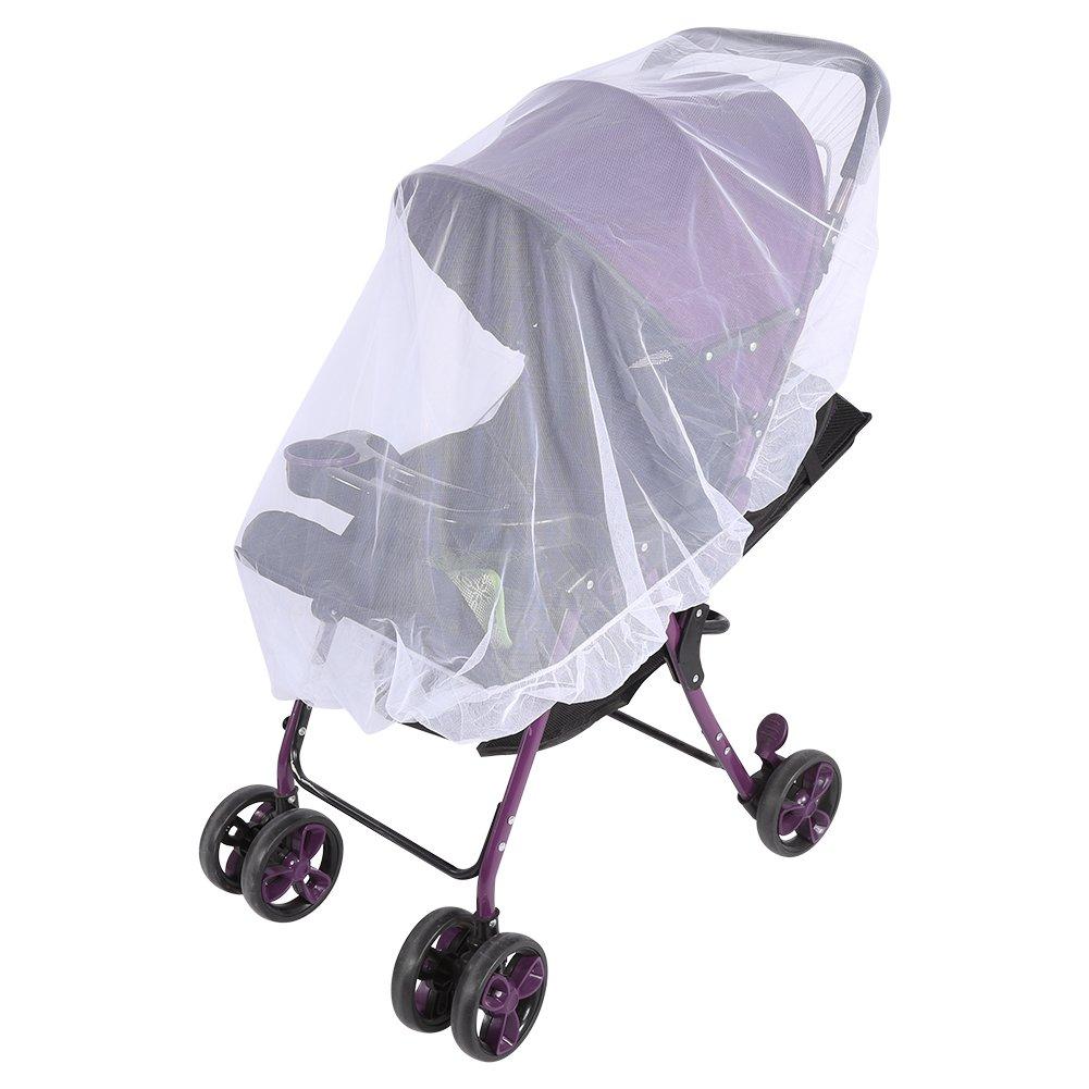 Zerodis Moskitonetz Insektenschutz Safe Schutz Mesh Cover Abdeckung f/ür Kinderwagen Buggy Zubeh/ör Blau