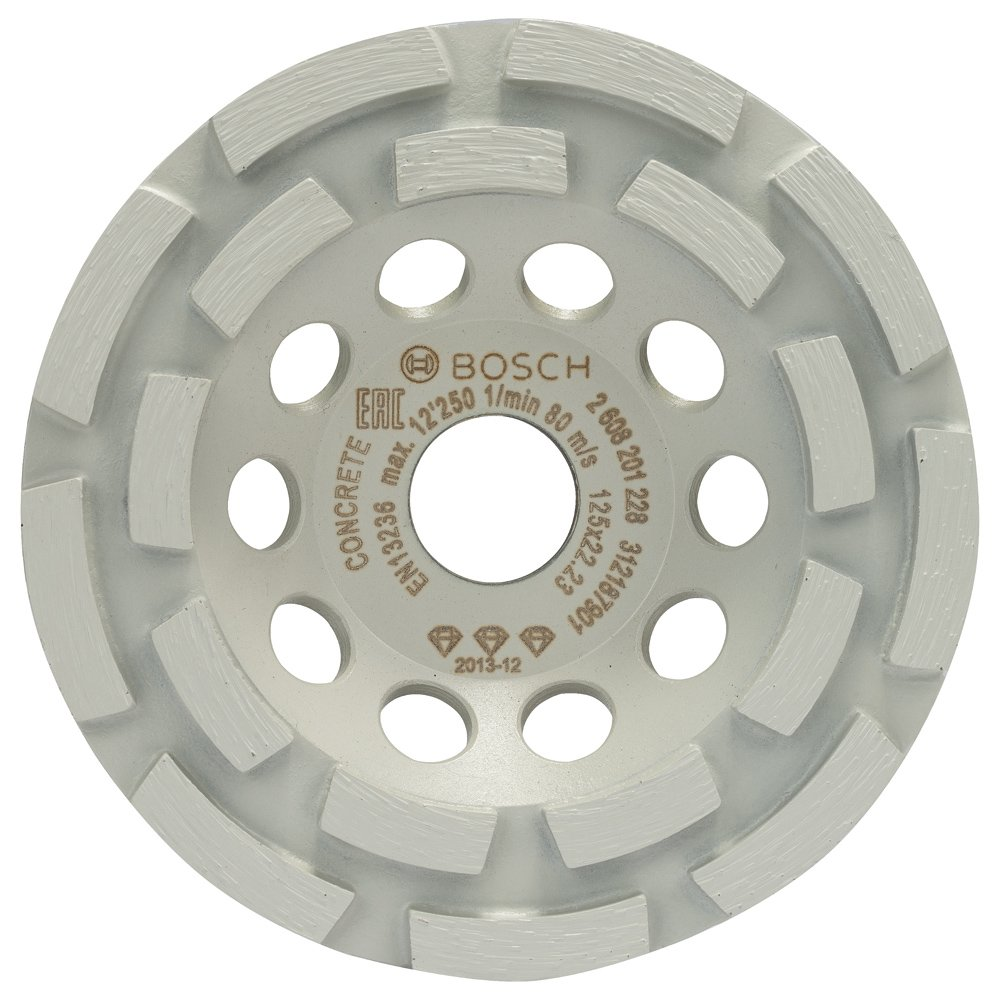 2608201228 BOSCH Diamond Grinding Head Best for Concrete 125 X 22.23 X 4.5 MM by Bosch (Image #1)
