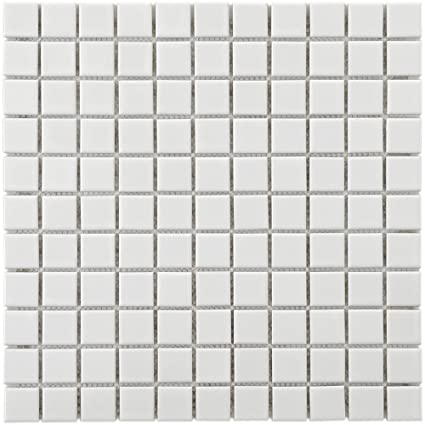 Retro Square White X Inch Porcelain Floor And Wall - 3 inch square ceramic tiles