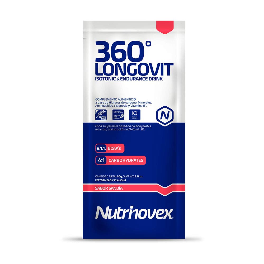 Nutrinovex bebida energética e isotónica 360º Longovit, Sabor Mango y maracuyá - 1000 gr