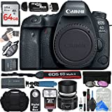 Canon EOS 6D Mark II Digital SLR Camera Body (Wi-Fi Enabled) + ULTIMATE PRO Bundle
