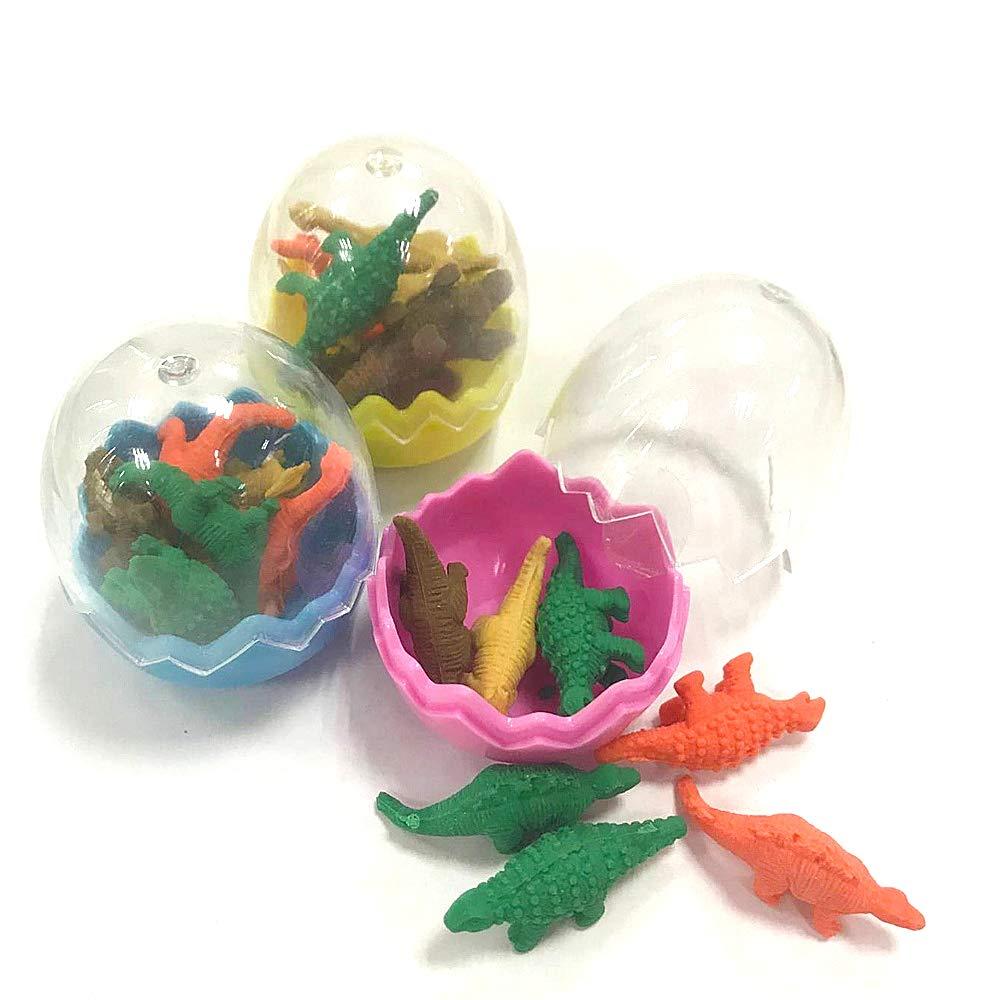Kepato 24 pcs Dinosaur Egg, Mini Dinosaur Erasers, School Supplies Kids Birthday Gift SS-181013
