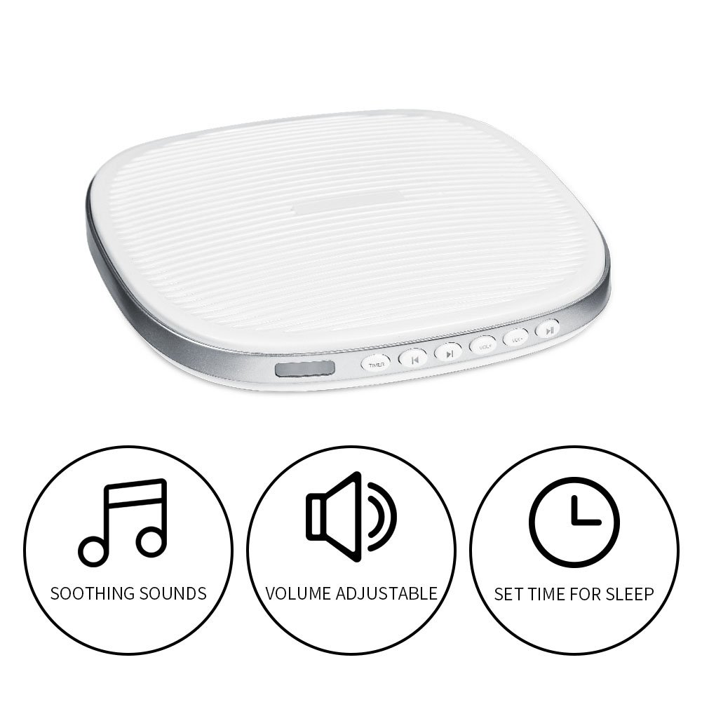White Noise Machine, Premium Sleep Therapy Sound Machine Portable Spa Relaxation Sound Machine with 20 Natural Soothing Sounds and Sleep Timer for Home Office Baby Travel by Zerone (Image #3)