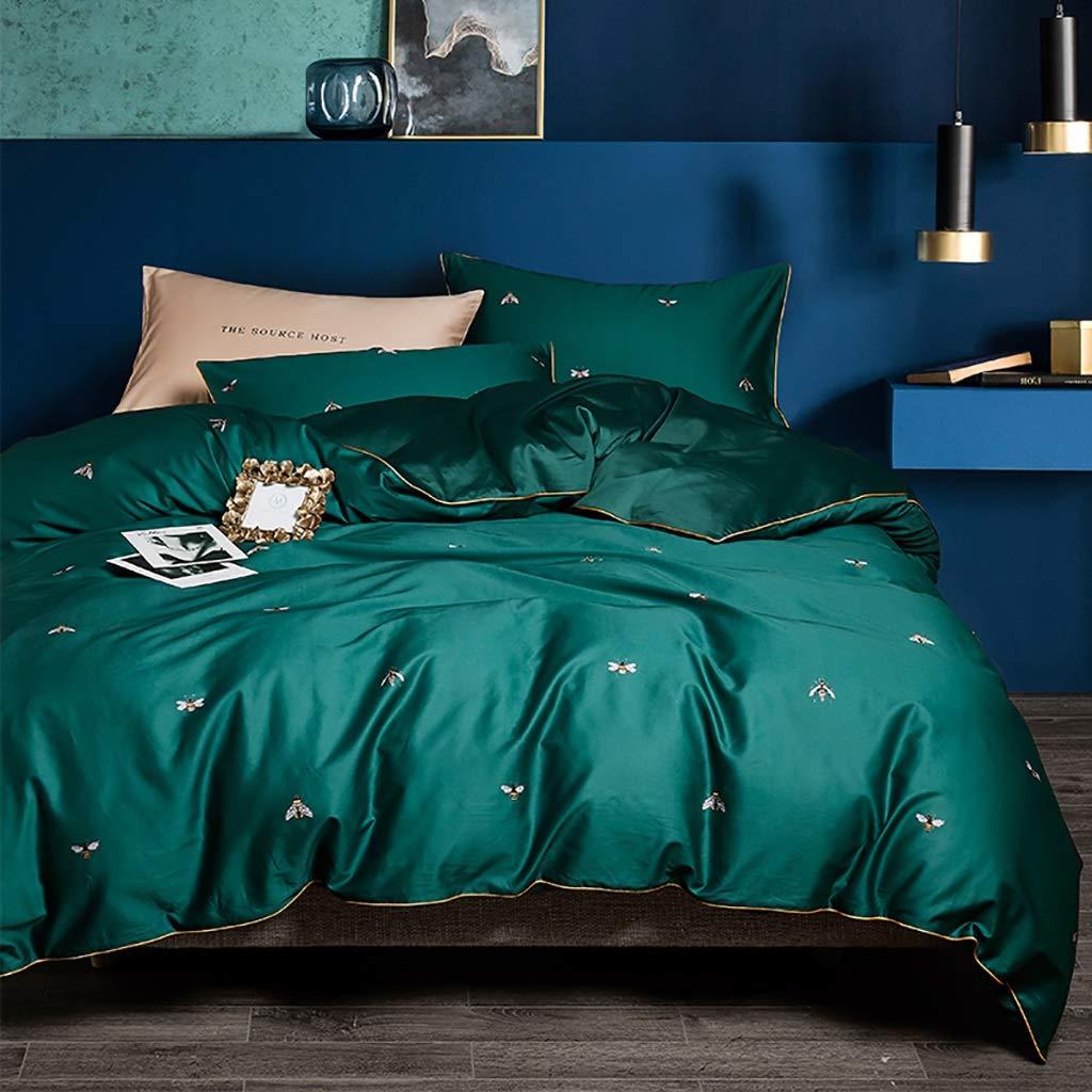 NUBAO シーツと枕カバー掛け布団カバー, 寝具シートセット、 60セットのサテンの綿のシーツ4組のベッドセットキルトカバー200 Cm寝具 B07NWF3F9J