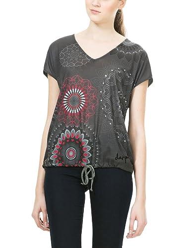 Desigual TS_Grey, Camiseta para Mujer