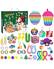 2021 Advent Calendar Fidget Toy Packs, Sensory Fidget Toys Set Stress Relief and Anti-Anxiety Toy for Kids Adults School Classroom Rewards Party Favor Birthday Gifts