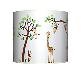 Cheeky monkey on tree ceiling lampshade 10 drum baby boys cheeky monkey on tree ceiling lampshade 10quot drum baby boys girls nursery mozeypictures Images