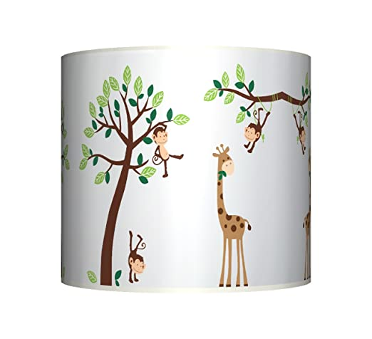 Cheeky Monkey On Tree Ceiling Lampshade 10 Drum Baby Boys