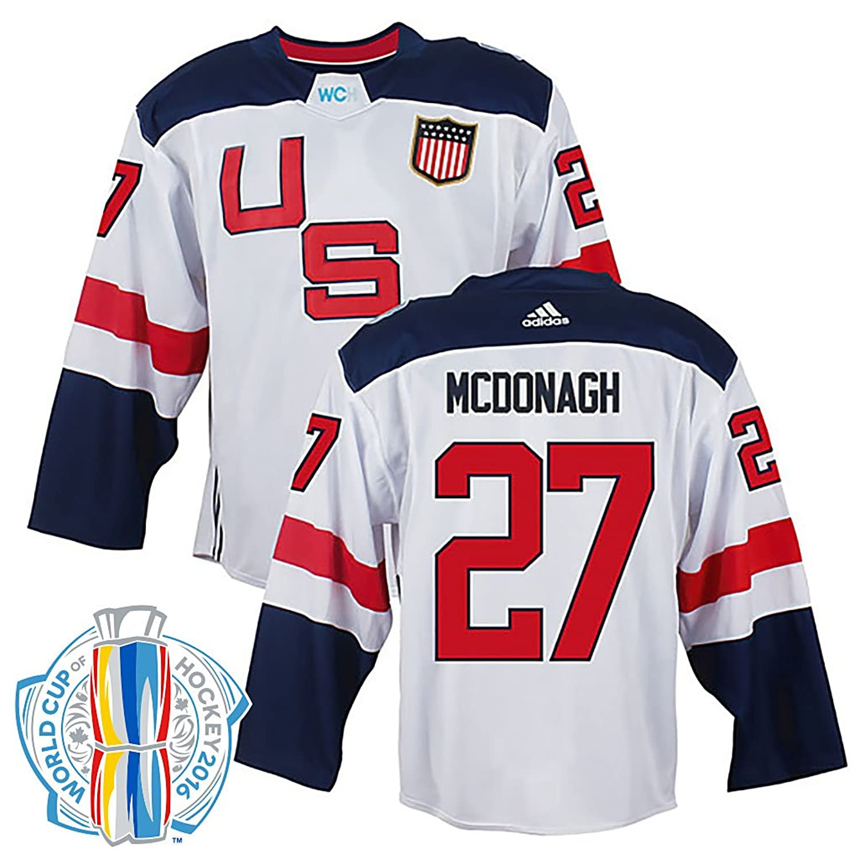 release date 59588 e01cc Amazon.com: Ryan McDonagh USA World Cup Of Hockey White ...