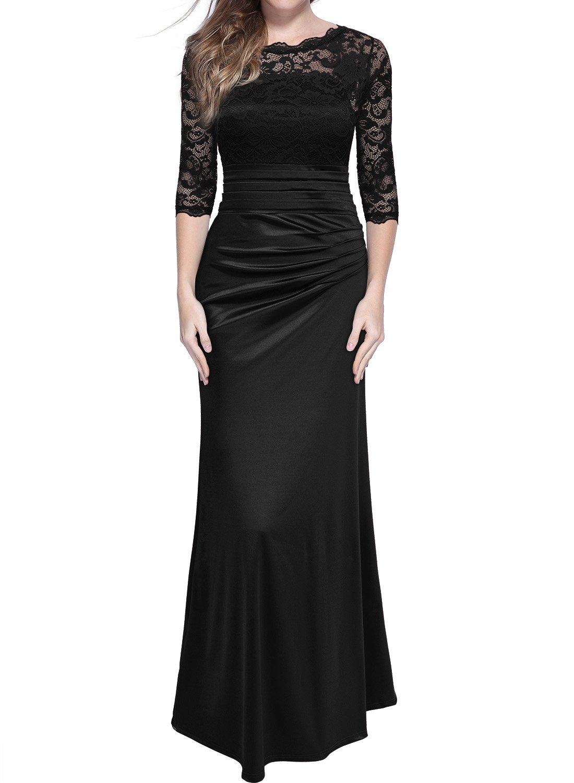 Long Black Evening Dress: Amazon.co.uk