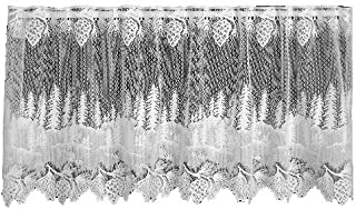 product image for Heritage Lace Pinecone 60-Inch Wide by 30-Inch Drop Tier, White