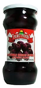 Peru Food Black Olives in Brine - Aceitunas Negras de Botija - Product of Peru - 20 oz.