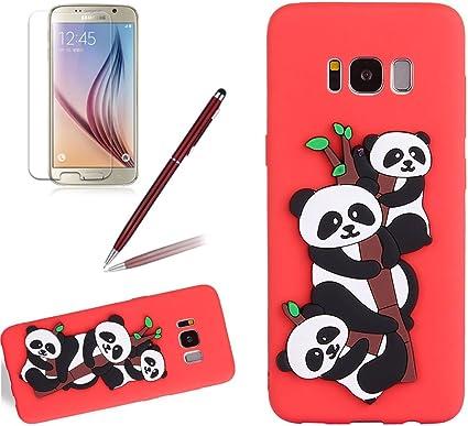 Coque Galaxy S8 Matte Panda Bambou Girlyard 3d Kawaii