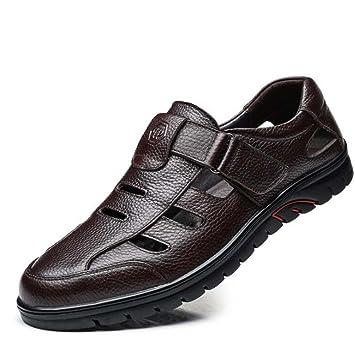 Herren Casual Sandalen Sommer Schuhe Weiche Mitte Schuhe Papa Sandalen SchwarzBraun Größe 37 45 Outdoor